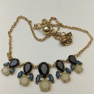 Kate Spade necklace. Blue tricolor w/ gold chain